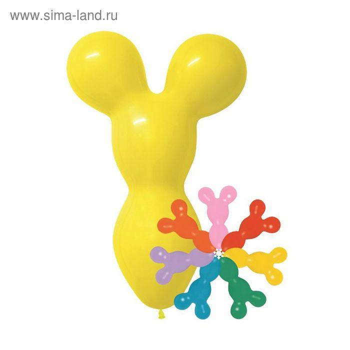 """Шар латексный """"Фигура Медведь"""" 43/30 см, пастель, набор 100 шт., цвета МИКС"""