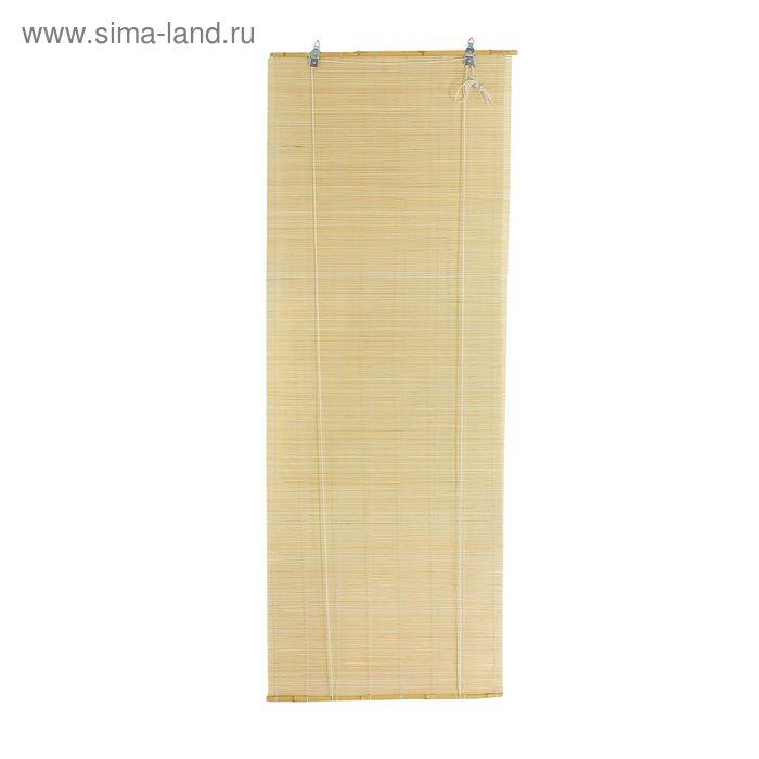 """Штора рулонная бамбуковая120 х160 см """"Осака"""", цвет натуральный"""