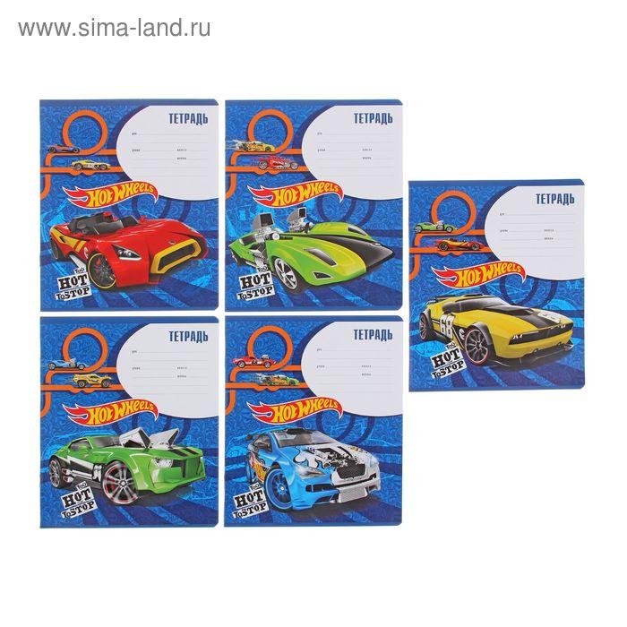 Тетрадь 12 листов клетка Hot Wheels Super Car, картонная обложка, МИКС, EK 39539