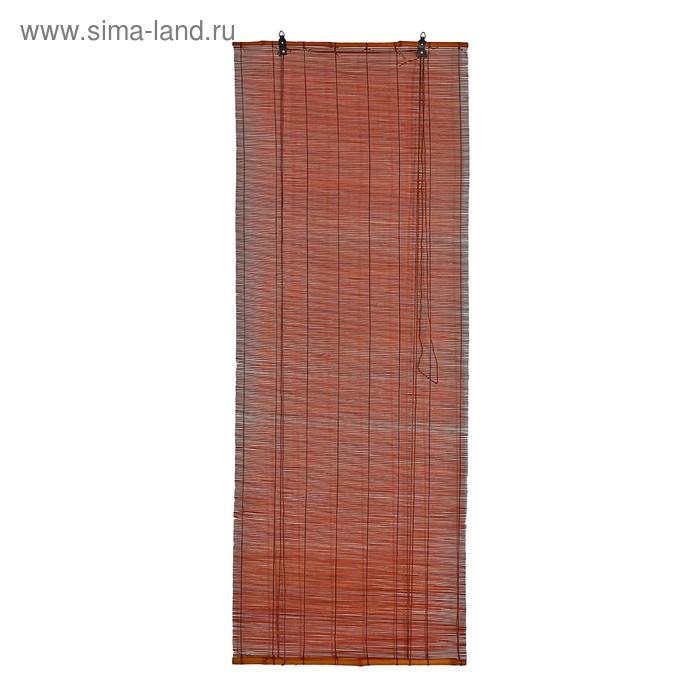 """Штора рулонная бамбуковая 140 х 160 см """"Осака"""", цвет венге"""