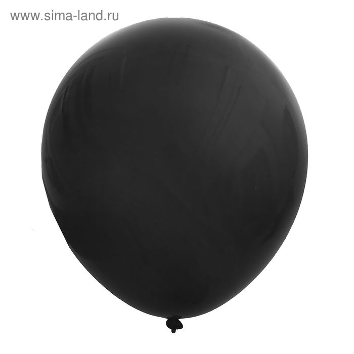 """Шар латексный 36"""", пастель, набор 10 шт., цвет чёрный"""