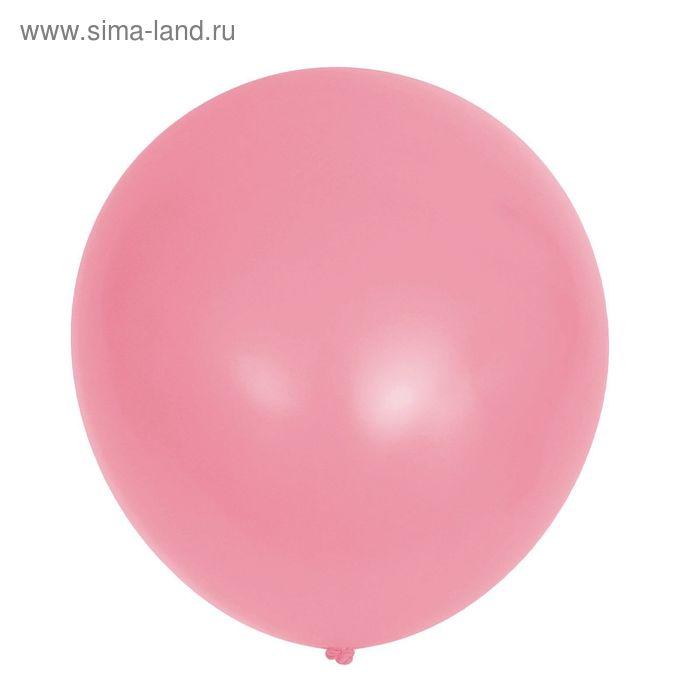 """Шар латексный 36"""", пастель, набор 10 шт., цвет розовый 009"""
