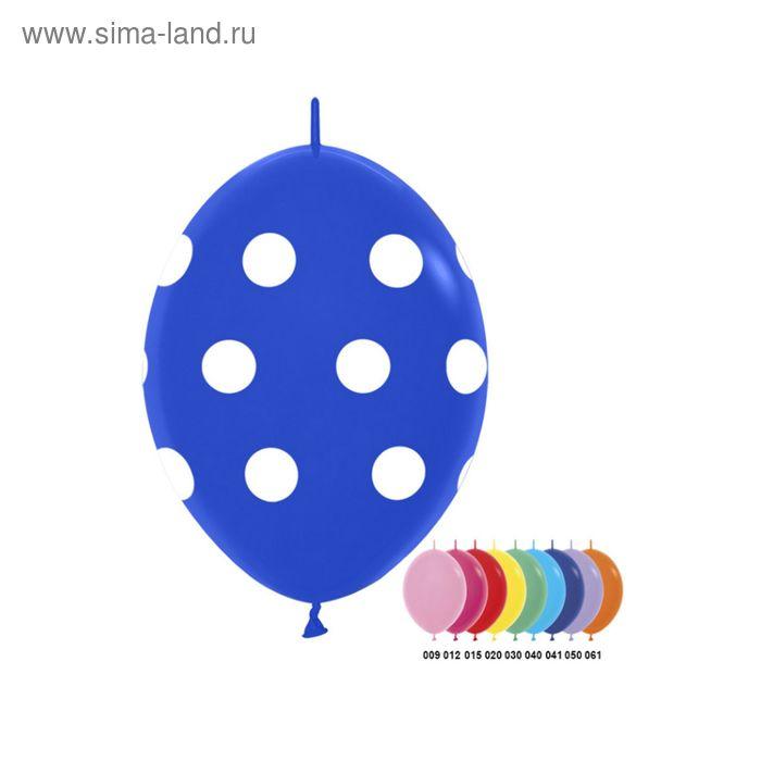 """Шар латексный 12"""" """"Большие кружки"""", линколун, 4-х сторонний рисунок, пастель, набор 100 шт., цвета МИКС"""