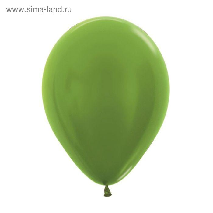 """Шар латексный 5"""", металл, набор 100 шт., цвет светло-зелёный"""