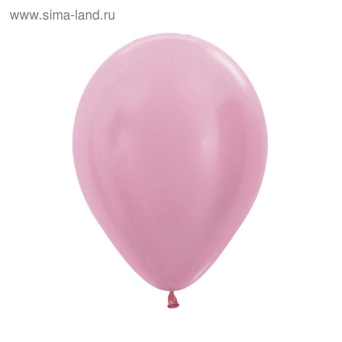 """Шар латексный 5"""", перламутр, набор 100 шт., цвет розовый"""