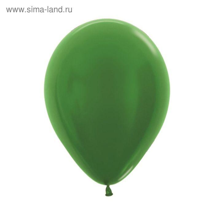 "Шар латексный 5"", металл, набор 100 шт., цвет зелёный"