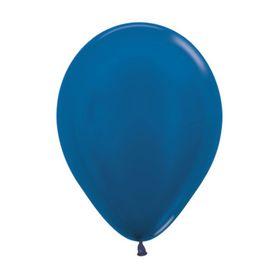 """Шар латексный 5"""", металл, набор 100 шт., цвет синий"""