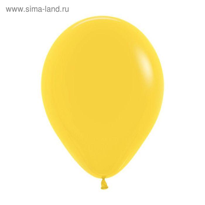 """Шар латексный 5"""", пастель, набор 100 шт., цвет жёлтый"""