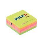 Блок с липким краем Hopax 76х76 мм, 400 листов, 5 цветов, Neon