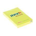 Блок с липким краем 51х76мм Hopax 100 листов 21132 Neon желтый