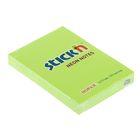 Блок с липким краем 51х76мм Hopax 100 листов 21163 Neon зеленый