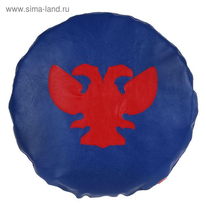 Щит круглый, цвет сине-красный