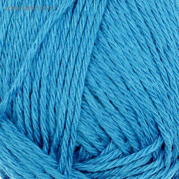 "Пряжа ""Бамбуковая"" 100% бамбук.волокно 130м/50гр (1220, ярко-голубой)"