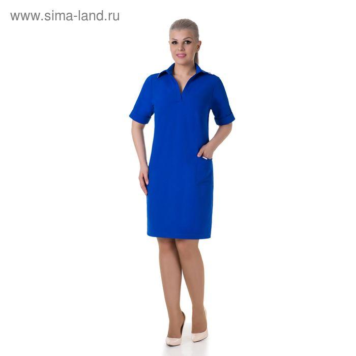 Платье женское, размер 52, рост 164 см, цвет электрик (арт. 14-92 С+)