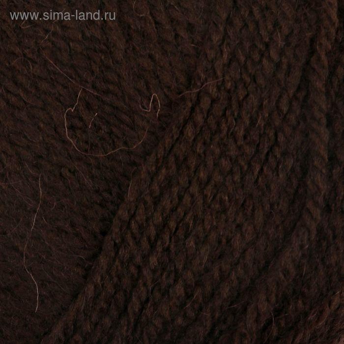 """Пряжа """"Аврора"""" 30% шерсть, 70% акрил 220м/100гр (0412, шоколадный)"""