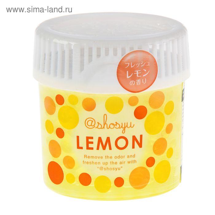 Поглотитель запаха Shosyu в гелевых шариках c запахом лимона, 150 г
