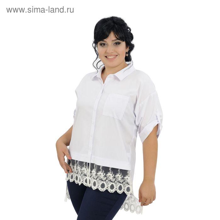 Блузка женская, размер 48, рост 164 см, цвет белый (арт. 40-09)