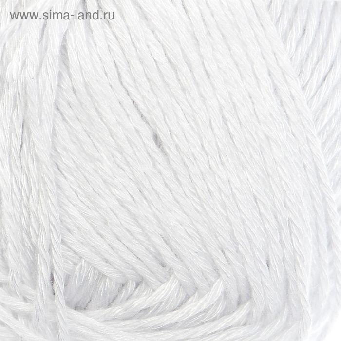 "Пряжа ""Бамбуковая"" 100% бамбук.волокно 130м/50гр (0237, супер белый)"