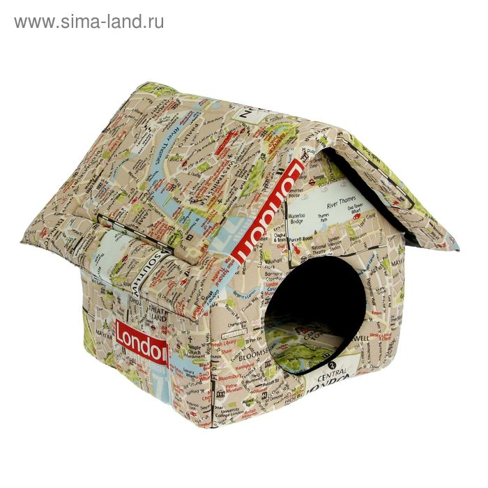 Домик для животных, с мебельной тканью, на молнии, 33 х 33 х 40 см