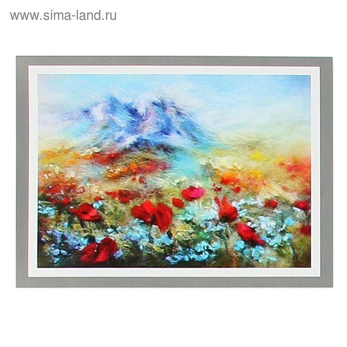 Набор для валяния (живопись цветной шерстью) 'Тянь-Шань' 21x29,7см (А4)