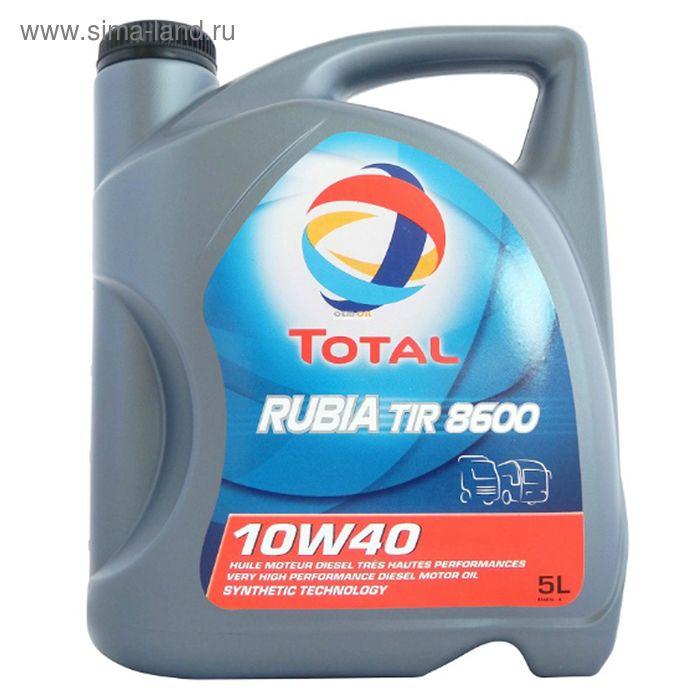 Моторное масло Total RUBIA TIR 8600 10W-40, 5 л
