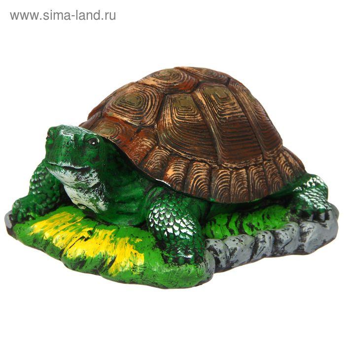 "Садовая фигура ""Черепаха на траве"""