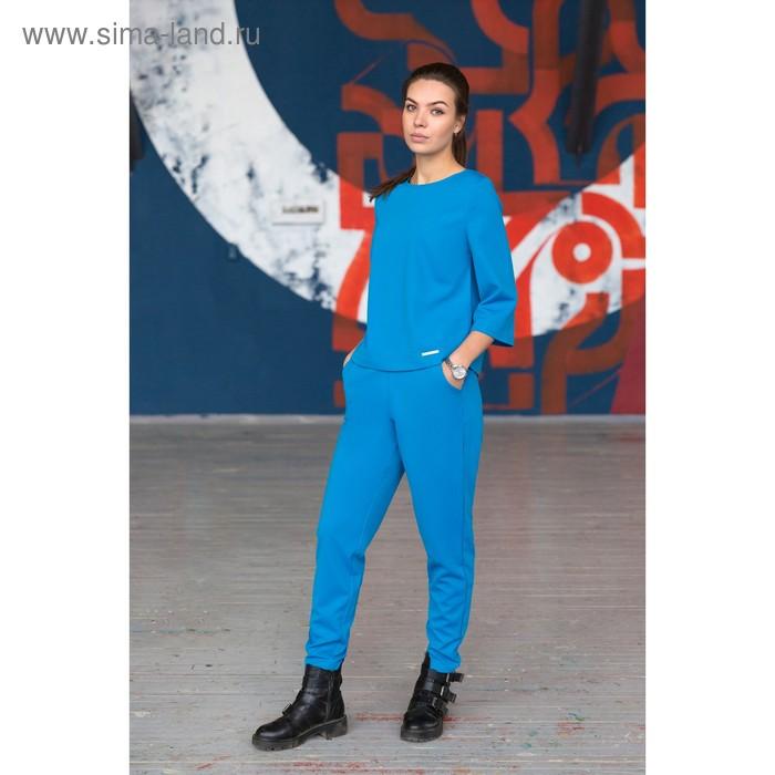 Брюки, размер 46, рост 164 см, цвет голубой (арт. 4730а)