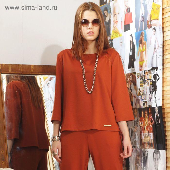 Блуза, размер 46, рост 164 см, цвет кирпичный (арт. 4731)