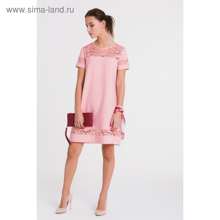 Платье, размер 48, рост 164 см, цвет розовый (арт. 4772а)