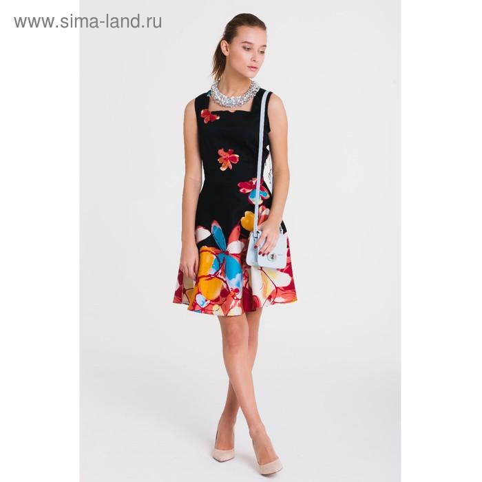 Платье, размер 48, рост 164 см, цвет чёрный/красный (арт. 4788)