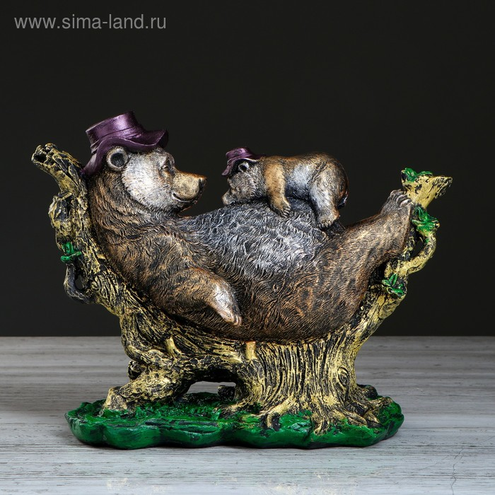 """Сувенир """"Медведь с медвежонком"""" цветной"""