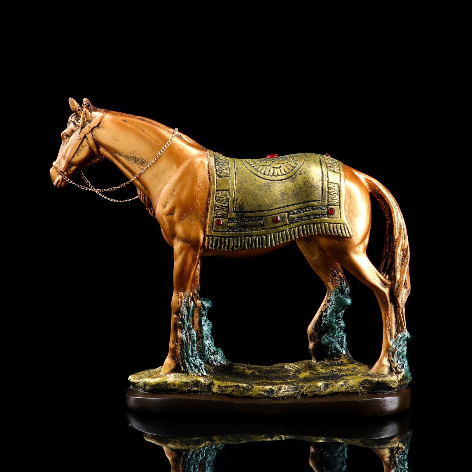 """Сувенир """"Конь"""", золото-серебро, стразы (1423194) - Купить ..."""