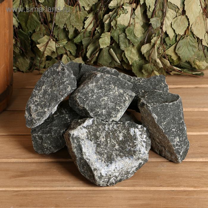 Камень для бани Дунит, коробка 20 кг