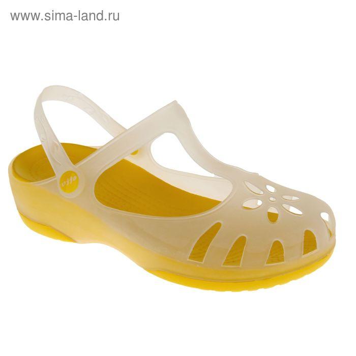 Аквашузы женские, цвет жёлтый, размер 36 (арт. 44320)