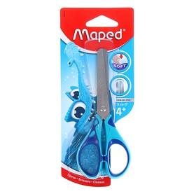 Ножницы детские 13см Essentials Soft, симметричные, прорезиненные ручки, микс