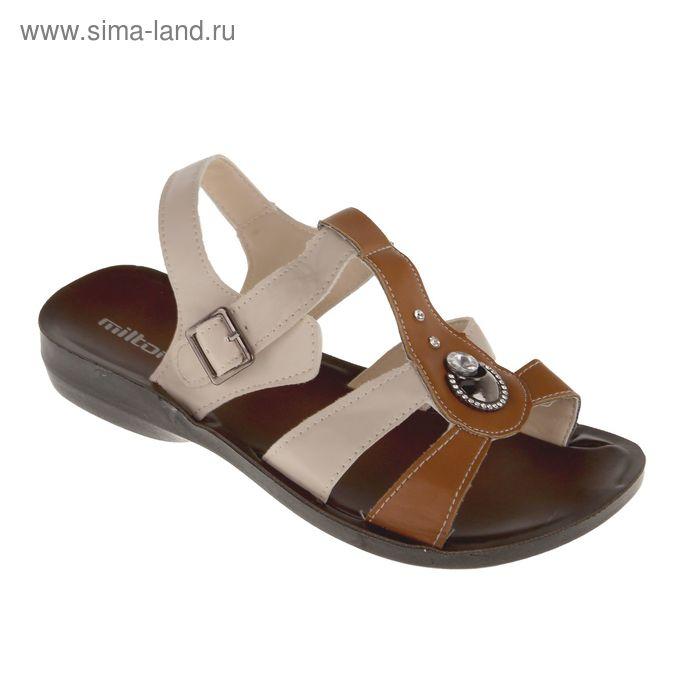 Сандалии женские, цвет коричневый, размер 38 (арт. 30311)