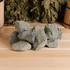 Камень для бани Габбро-диабаз, коробка 20кг Ош