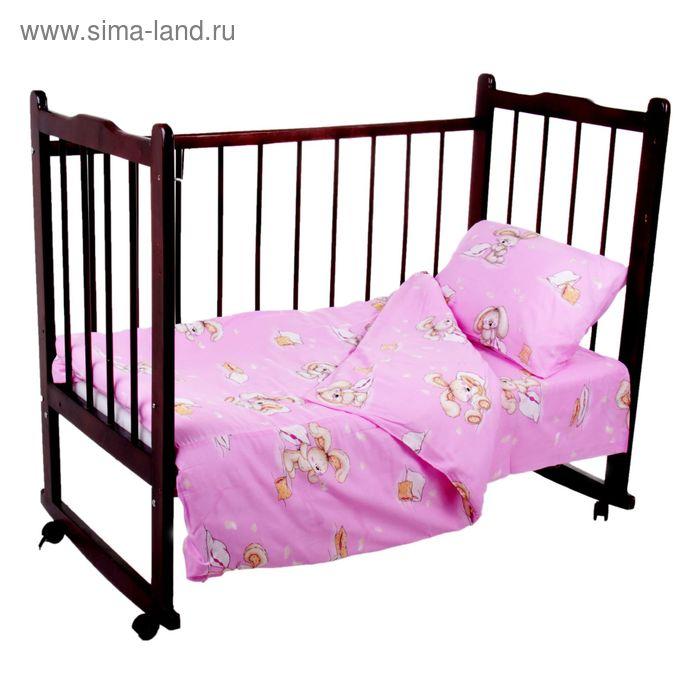 """Комплект постельного белья """"Спи малыш"""", цвет розовый К26-4-3С(Ш)"""