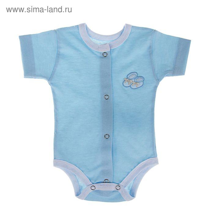 Боди, рост 62 см, цвет голубой (арт . 31-2ТР(Ку)-Ап)