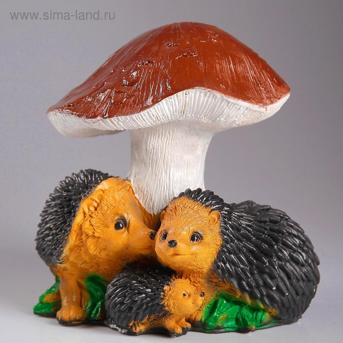 """Садовая фигура """"Ёжики с грибом"""""""