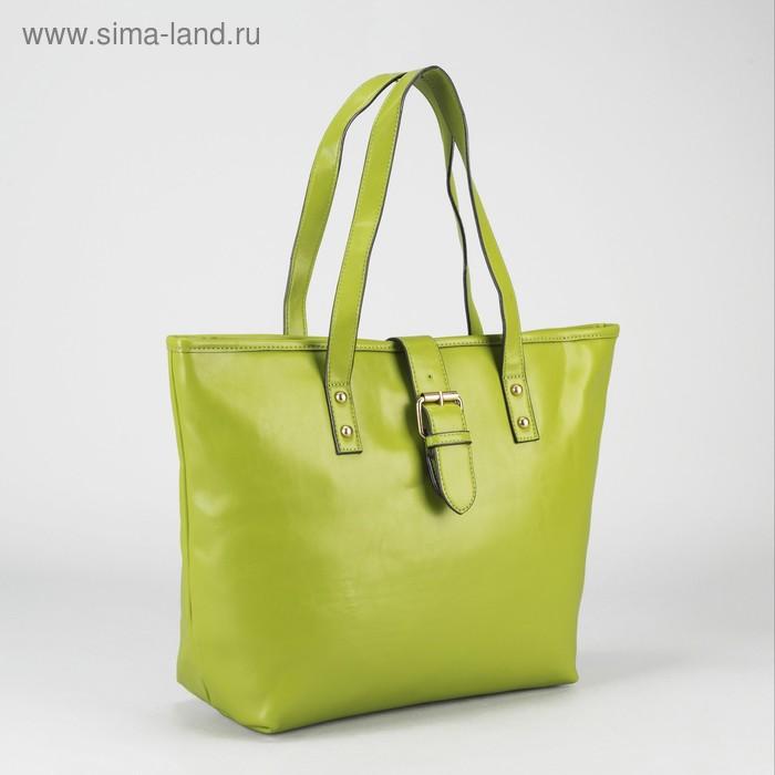 """Сумка женская на молнии """"Джейн"""", 1 отдел, 1 наружный карман, зелёная"""