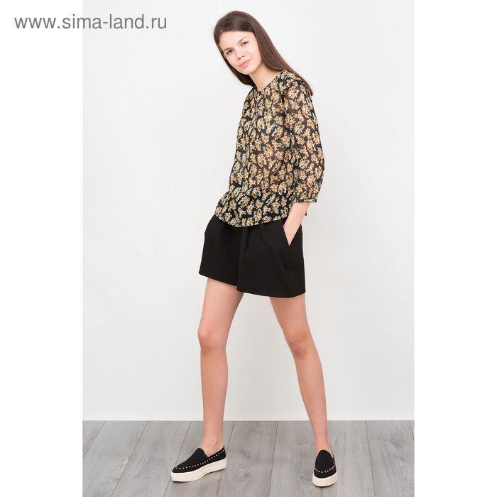 Шорты женские, цвет чёрный, размер 44 (S), рост 170 см (арт. 1611370737)