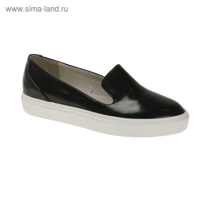 Туфли (слипоны) женские, цвет чёрный, размер 38 (арт. 1616033019)