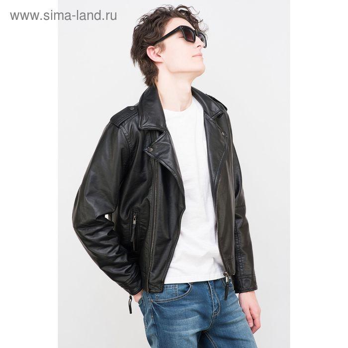 Куртка мужская, цвет чёрный, размер 48-50 (L), рост 176 см (арт. 619001101 С+)