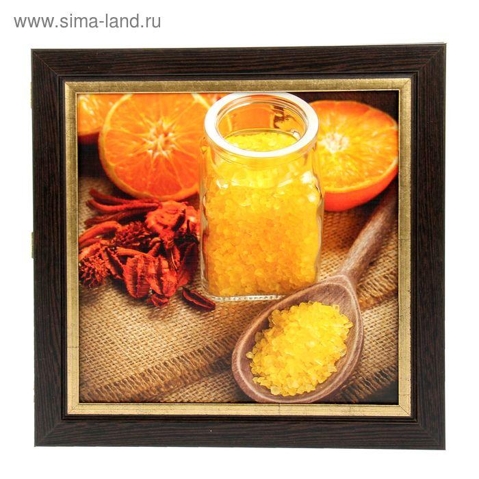 """Ключница """"Оранжевый рай"""" венге с золотом"""