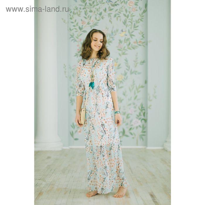 Платье женское, розовый принт, размер 44 (S), рост 170 см (арт. 1611348580)