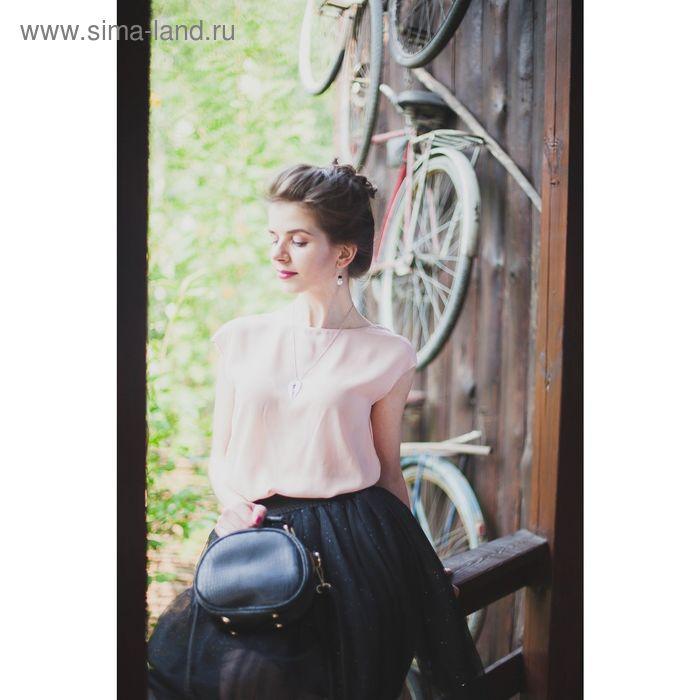 Блузка женская, цвет розовый, размер 46 (M), рост 170 см (арт. 1611316326)