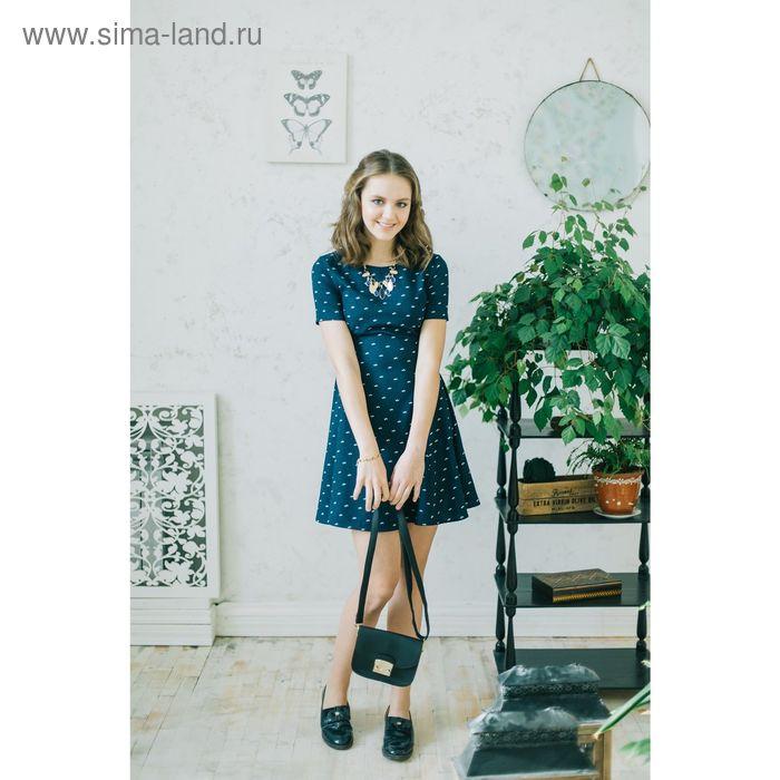 Платье женское, синий принт, размер 42 (XS), рост 170 см (арт. 1611331500)