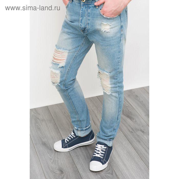 Брюки джинсовые мужские, цвет светлый индиго, размер 44 (XS), рост 176 см (арт. 619037711)