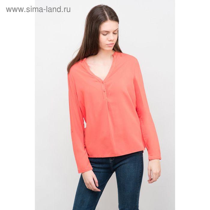 Блузка женская, цвет коралловый, размер 44 (S), рост 170 см (арт. 1611181325)